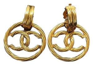 Chanel Chanel,Interlocking,C,Loop,Drop,Earrings