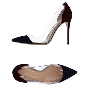 Gianvito Rossi Plexi Navy & Bordeux Pumps