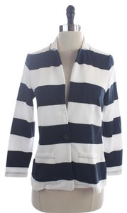 Banana Republic Navy White Striped Jacket Size Xs Blue Blazer