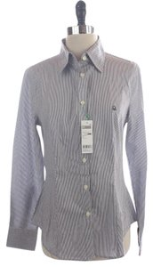 United Colors of Benetton Striped Down Shirt Medium Size Button Down Shirt Blue