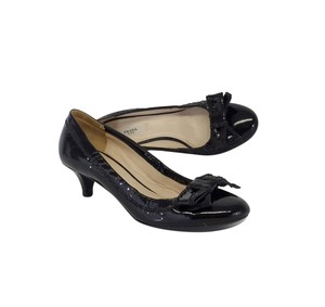 Prada Black Patent Leather Bow Heels Pumps
