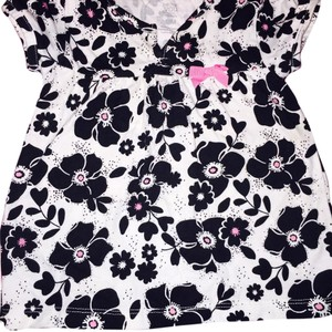 Carter's T Shirt Floral black white
