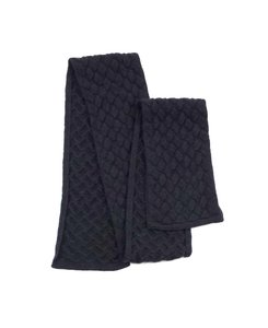 Bottega Veneta Grey Knit Wool Scarf