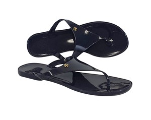 Tory Burch Navy Jelly Flip Flops Sandals