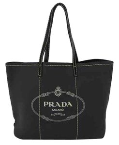 Prada Neverfull Shopper Tote in black