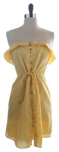 Juicy Couture short dress Yellow Strapless Cotton on Tradesy