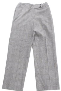 Talbots Houndstooth Straight Pants Black and White