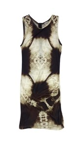 Haute Hippie short dress Brown Cream Abstract Print on Tradesy