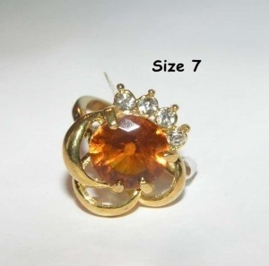 Chunky Topaz Fashion Ring Free Shipping