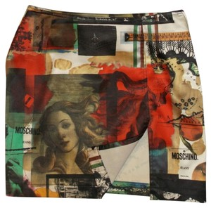 Moschino Logo Printed Italy Skirt Multi-color