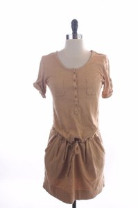 J.Crew short dress Beige Belge Cotton Drawtring Short on Tradesy