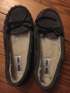 Minnetonka Cally Grey Flats