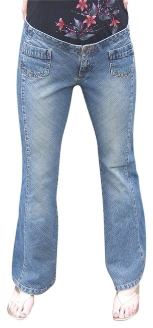 UNIONBAY Wash Boot Cut Pants Denim, Medium Washed