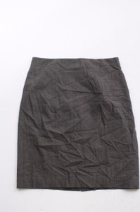 Ann Taylor Wool Blend Suiting Pencil Skirt Brown