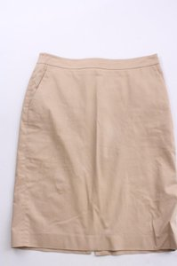 Talbots Khaki Pencil Simple Career Size 6 Skirt Beige