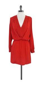 Rory Beca short dress Red Long Sleeve V-neck on Tradesy