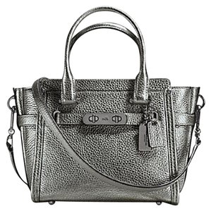 Coach Satchel in Dark Nickel/ Gunmetal
