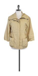 Vince Khaki Waist Cotton Blend Jacket