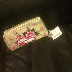 Ed Hardy Lime Green Clutch
