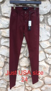 Just USA Red Skinny Jeans-Coated