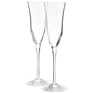 Nwb Pair (2) Waterford Champagne Flutes