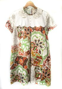 See by Chloé short dress Printed Loose Fit Round Collar Trompe-l'oeil Hawaiian Psychedelic on Tradesy