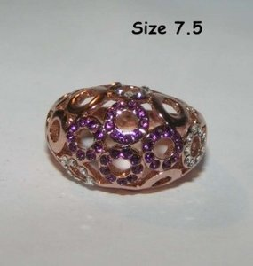 Domed Rose Gold Fashion Ring Free Shipping