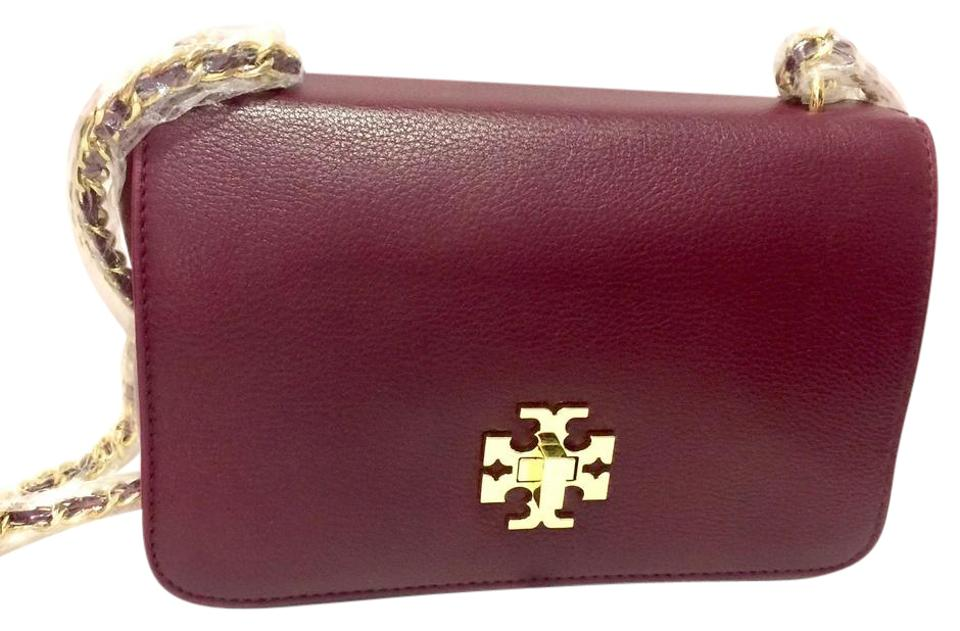 4afb161844a9 Tory Burch Mercer Adjustable Burgundy Leather Shoulder Bag - Tradesy