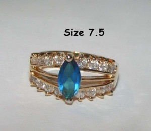 Sapphire Blue Fashion Ring Free Shipping