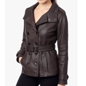 7 For All Mankind Brown Leather Jacket