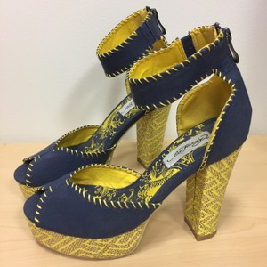 Ed Hardy Navy and gold Platforms