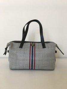 Tory Burch Weekend Tote Black White Multi-Colored Travel Bag