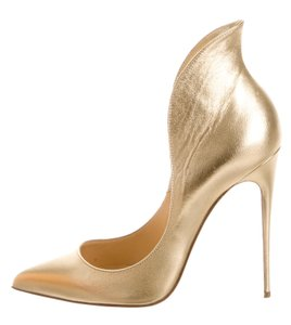 Christian Louboutin Mea Culpa Metallic Gold Pumps