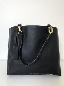 Ralph Lauren New Leather Spacious Tote in Black
