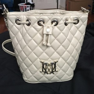 Love Moschino Leather Quilted Monogram Cross Body Bag