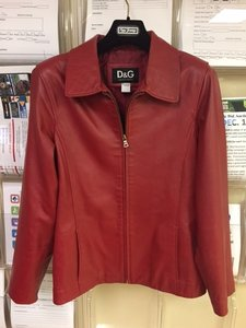 Dolce&Gabbana Vintage Leather Red Leather Jacket