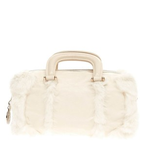 Fendi Leather Fur Satchel