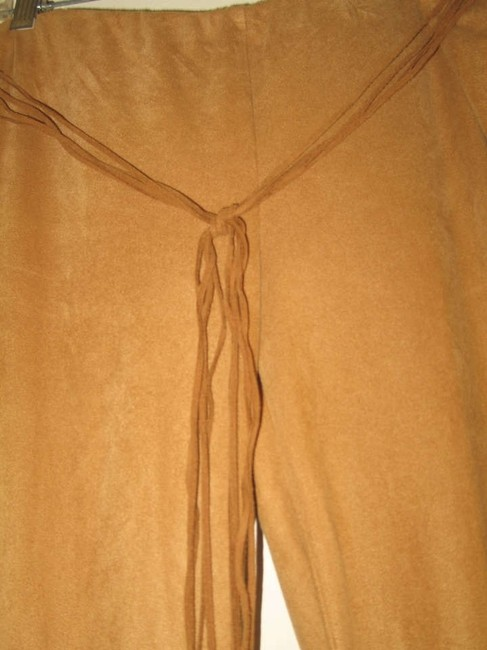 Other Suede-cloth Flare Pants Tan, Beige, Tobacco, Buckskin