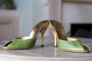 Gucci Leaf Green Mules
