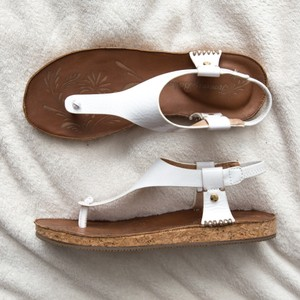 Tommy Bahama Slingback Patent Tfw00190 White Sandals