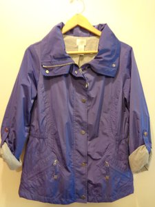Chico's Windbreaker Fall Spring Purple Jacket