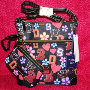 Dooney & Bourke Varsity Wristlet Coated Cotton Cross Body Bag