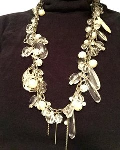 Mark Mark statement necklace complete with black velvet storage bag.