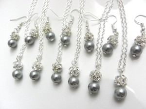 Other Set Of 6 Necklaces And Earrings Set Of Bridesmaid Necklaces