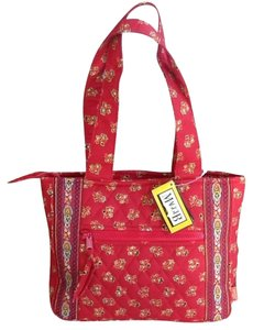 Maggie B. Satchel in Red Print Cloth