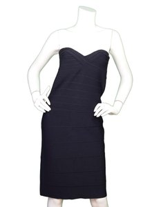 Hervé Leger Bandage Strapless Dress