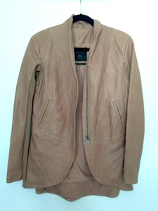 VEDA Leather Brown Leather Jacket