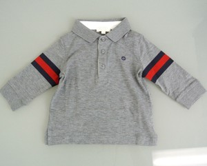 Gucci Gucci Kids Long Sleeve Polo Shirt W/brb Web 6-9 Month 265392
