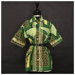 Other African Print Dashiki Cultural Top Green