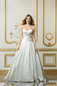 Watters Ivory W Too 11211 Strapless Sweetheart A-line Bridal Gown Formal Wedding Dress Size 12 (L)
